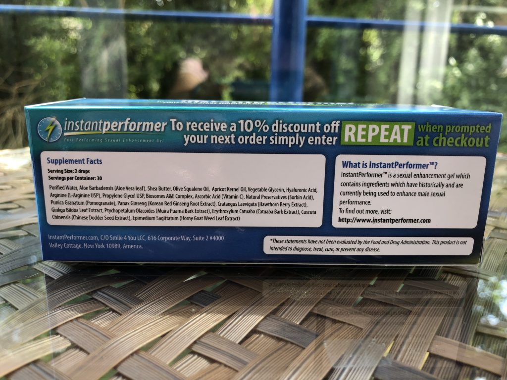buy instant performer gel